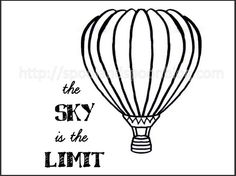 Spool and Spoon: Hot Air Balloon Embroidery Pattern