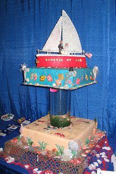 wedding cake with fish tank
