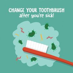 IT'S FLU SEASON! Be sure to change out your toothbrush after being ill to avoi... #avoi #Change #FLU #ill #season #Toothbrush