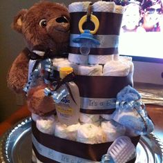 Diaper cake for my neighbor! So making it for her