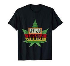 420 Jamaica Rasta Cannabis Weed Stoner T-Shirt Weed Shop, Rasta Colors, Stoner, Jamaica, Cannabis, Holidays, Humor, Sleeve, Classic