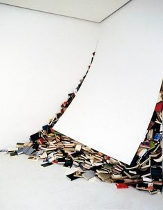 """atelierjen: """"From The series of installations & sculptures Biografias, by Alicia Martin, """" Land Art, Instalation Art, Book Sculpture, Wow Art, To Infinity And Beyond, Conceptual Art, Public Art, Les Oeuvres, Paper Art"""