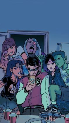 Teen Titans by Gabriel PicoloYou can find Teen titans and more on our website.Teen Titans by Gabriel Picolo Teen Titans Raven, Teen Titans Go, Teen Titans Fanart, Teen Titans Starfire, Cartoon Kunst, Cartoon Art, Gabriel Picolo, Original Teen Titans, Vintage Cartoons