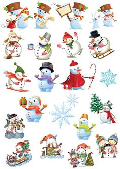 Клипарт Christmas Ornaments To Make, Christmas Scenes, Christmas Stickers, Christmas Printables, Christmas Pictures, Christmas Art, Vintage Christmas, Christmas 2018 Ideas, Christmas Colors