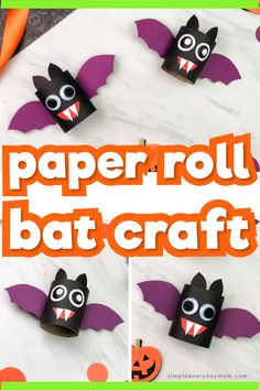 Make these easy toilet paper roll bats for Halloween! They're a simple DIY craft that's great for preschool, kindergarten and elementary aged children. They come with a free printable template so they're easy to recreate at home or at school. Halloween Crafts For Toddlers, Halloween Activities, Halloween Fun, Toddler Preschool, Toddler Crafts, Preschool Crafts, Toddler Activities, Kids Crafts, Diy Home Crafts