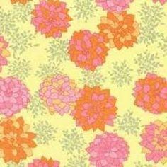 """1YD x 54/55"""" Wide Soft Nest Voile DELICATE DAHLIA Orange Pink Free Spirit Fabric #FreeSpirit"""