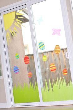 Creative Juice: {TUTORIAL} easy tissue paper window decor