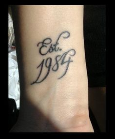 Cute idea for an anniversary tattoo!