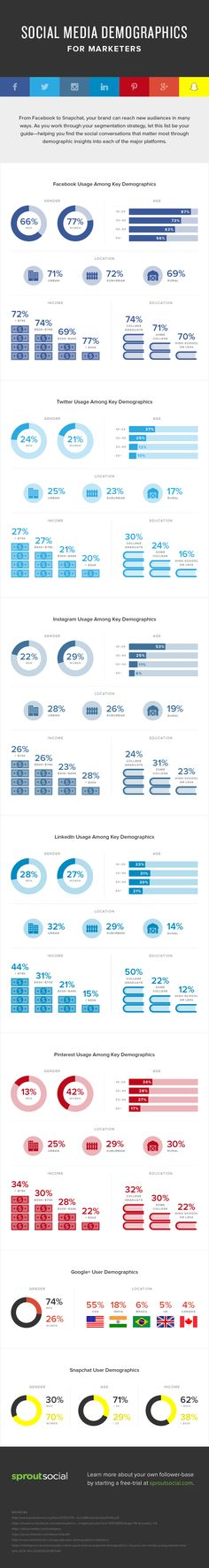 Infographic - social media demographics for marketers