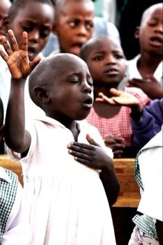 This is so beautiful, children worshiping the Lord