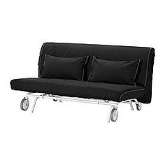IKEA - IKEA PS LÖVÅS, 2-zits slaapbank,  , Gräsbo wit, , Extra hoezen om af te wisselen waardoor je zowel je zitbank als je kamer eenvoudig een nieuwe look geeft.Eenvoudige en stevige matras die geschikt is voor dagelijks gebruik.De matrasovertrek is afneembaar en chemisch te reinigen en dus eenvoudig schoon te houden.De zitbank kan snel en eenvoudig worden omgetoverd tot een ruim bed; gewoon de zitting uitrollen, waarna de rugleuning uitvouwt.