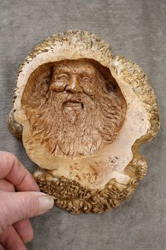 maple burl wood spirit