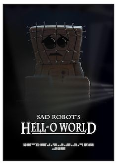 Hell-o World - Sad Robot print - A4, Robot, Illustration Art, Comics, Artwork, Movie Posters, Work Of Art, Auguste Rodin Artwork, Film Poster