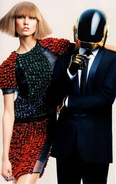 Karlie Kloss & Daft Punk by Craig McDean for Vogue August 2013