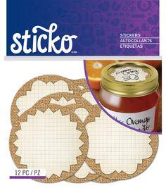 Burlap Mason Jar Labels Standard, , hi-res