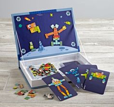 Create your own robots with our Magnetic Robot set.  It features 200 magnetic pieces in a cleverly designed box that doubles as a display for your robotic creations.  And since it's magnetic, you can even take it with you on road trips.  But, since it's not a real robot, don't expect it to clean your room for you.
