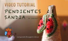 Vídeo Tutorial Pendientes Sandía a crochet - Susigurumi