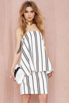 Cameo Rather Be Striped Dress - Sale