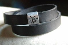 Hand Stamped Leather Cuff  Japanese Symbol For by IJDbyNoelle, $25.00