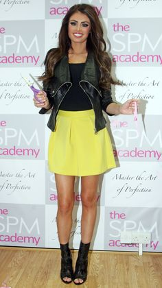 Chloe Sims at the opening of new cosmetic surgery establishment SPM Academy.