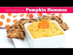 Clean Eating Pumpkin Hummus | Clean & Delicious