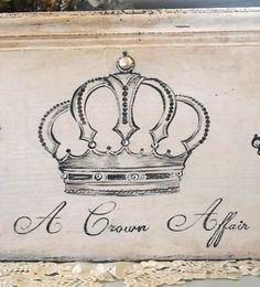 Antique Hand Painted Crown sign by Debi Coules