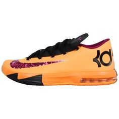 Nike KD VI Basketball Shoe - Laser Orange/Raspberry Red/Black/Gold