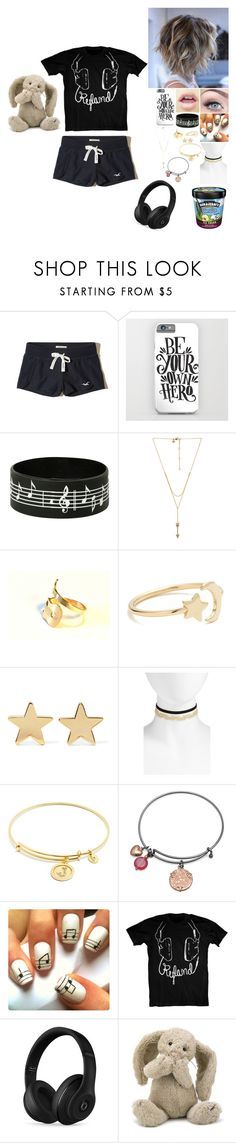 """When he's on tour"" by alexishambleton on Polyvore featuring mode, Hollister Co., Rebecca Minkoff, Ariel Gordon, Jennifer Meyer Jewelry, BP., Chrysalis, BillyTheTree, Beats by Dr. Dre et Jellycat"