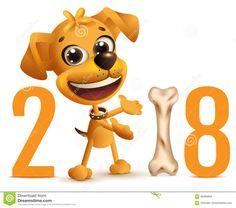 Symbol a sárga kutya 2018 a kínai naptárban Illusztráció a vektor - kép: 95069804