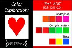 Explore Color:  Red - (RGB)