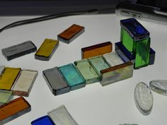building with glass mosaic tiles