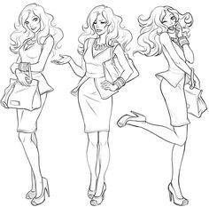 eva-widermann-disney-city-girl-spring I really like the expressions