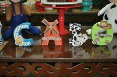 Letras 3D Pequerruchos na Fazenda by Oliver Festas Infantis ☺