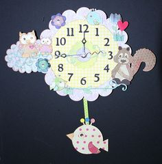 Baby Pendulum Wall Clock by 1MakingFaces on Etsy
