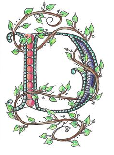 Zentangle Inspired Monogram Letter Note Card