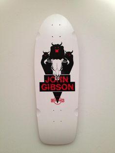 Zorlac skateboard deck. John Gibson