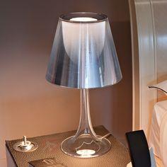 Srebrna lampa stołowa MISS K retro 3510015