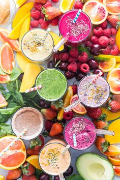 Breakfast Smoothies, Healthy Smoothies, Smoothie Recipes, Breakfast Recipes, Fruit Recipes, Baby Food Recipes, Healthy Recipes, Easy Family Meals, Kids Meals
