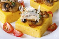 receita #segundasemcarne | polenta crocante com ragu de cogumelos #vegan  com