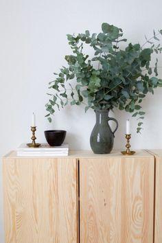eucalyptus still life props ceramics pottery