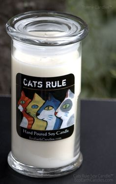 Hey, I found this really awesome Etsy listing at https://www.etsy.com/listing/194595222/cats-rule-soy-candles