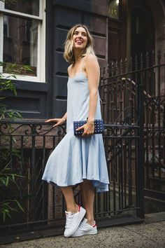 Say hello to your summer uniform. TIbi's Silk Tie-Back Cami Dress is the perfect breezy choice for summer days.