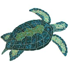 Ceramic Giant Sea Turtle Mosaic | MonsterMarketplace.com