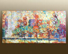 Peinture, abstrait toile peinture abstraite, toile décoration murale, cuisine murale Decor, peinture à l'huile originale, toile abstraite, toile à l'huile