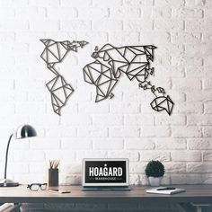 Metal Wall Art - World Map