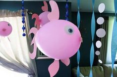 Cheap and simple Under the Sea birthday party Decorations! 3rd Birthday Parties, Birthday Party Decorations, Party Themes, Party Ideas, 4th Birthday, Birthday Ideas, Ocean Party, Water Party, Little Mermaid Birthday