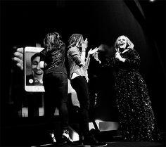 Adele fans for selfie adele.com