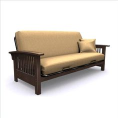 Elite Products Bridgeport Full Size Wood Futon Frame In Espresso