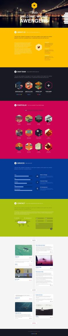 Hexagon - #Creative #OnePage #WordPress Theme
