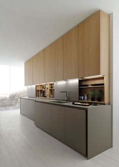 Nice Contemporary Kitchen inspiration. #ContemporaryKitchen #Kitchen #KitchenIdeas